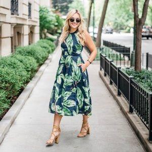 Ann Taylor Palm Leaf Dress